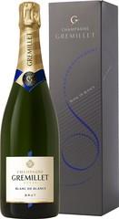 Champagne Gremillet Brut Blanc de Blancs 0,75L dárkové balení