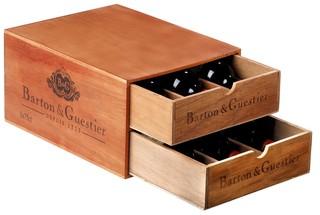Barton & Guestier dřevěný box na 6 lahví