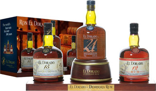 El Dorado Rum Display 12 YO, 15 YO, 21 YO