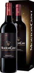 BPdR Mouton Cadet Bordeaux Rouge AOC 0,75L, dárkové balení